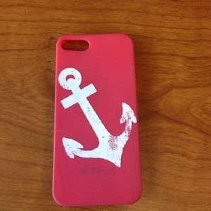 🍀2/$25 Jcrew red and white iPhone 5 case