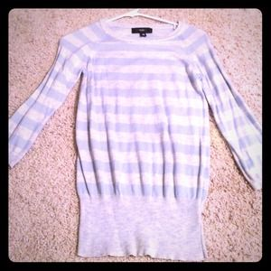 Light blue and gray top!