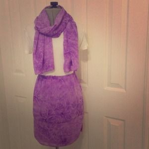 One of a Kind Handmade Skirt and Scarf!