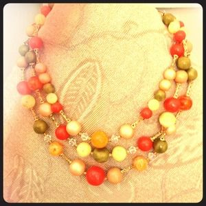 Multi-colored bead necklace