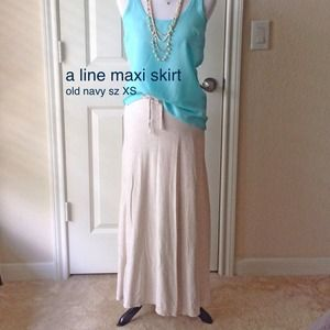 Old Navy Dresses & Skirts - XS slight a line jersey maxi skirt. Old navy.