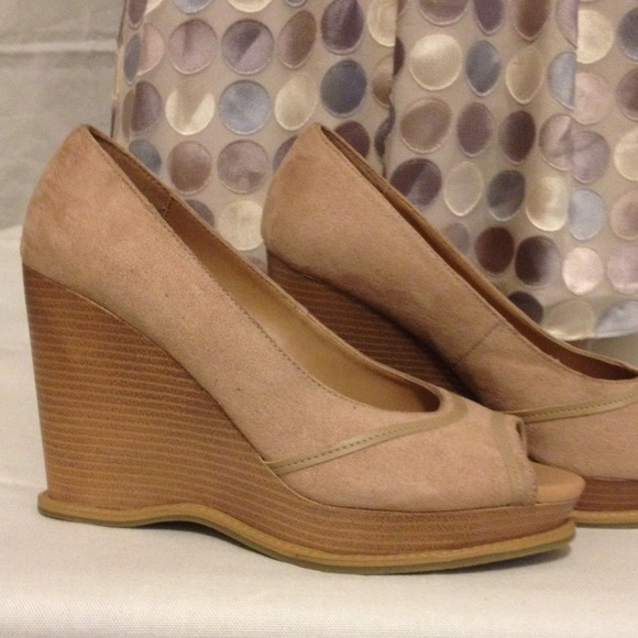 cad864a0c64 apostrophe - 4 inch wedge heels with peep-toe from Lois s closet .