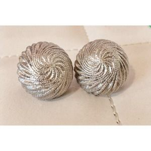 Trifari Vintage Silver Clip On Earrings