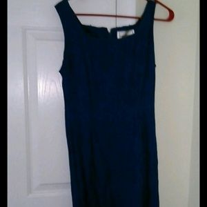 Long blue sleeveless with blazer