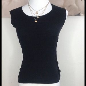 Guess Tops - Cute black cotton top with lace sides