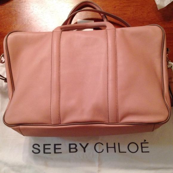 purses chloe - 63% off See by Chloe Handbags - ?? Chloe Harriet Porte Main Blush ...