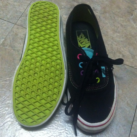 Black With Colorful Eyelets Size