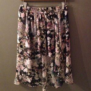 Zara pattern high to low skirt