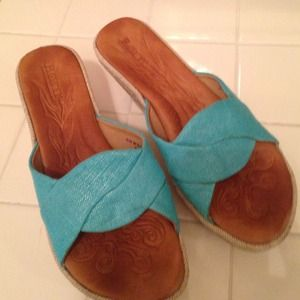 Born hand crafted footwear blue sandals