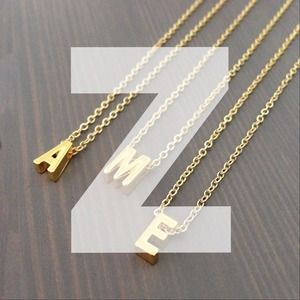 "gnomesjoyclub Jewelry - Letter ""Z"" Initial Charm on 24k Gold-Plated Chain"