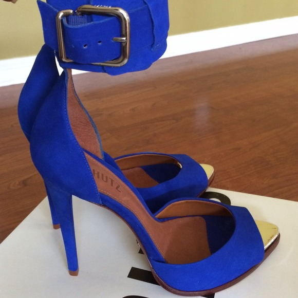 64% off SCHUTZ Shoes - Schutz royal blue high heel sandal | size ...
