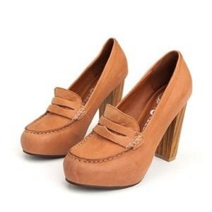 Jeffrey Campbell-penny lane loafer heels