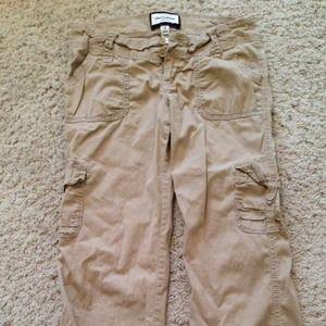 Abercrombie khaki cargo pants Used. Sz 16 kids 2-4