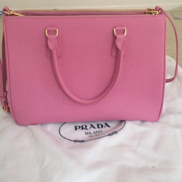 pink prada saffiano bag