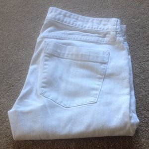 J.Crew matchstick 28 white jeans