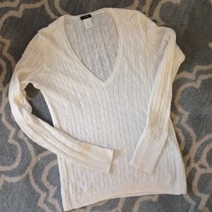 NEWLY-REDUCED Linen Cable-Knit J. Crew Sweater
