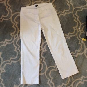 J. Crew City Fit White Cropped Pants