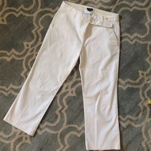 J. Crew White Ankle Pants