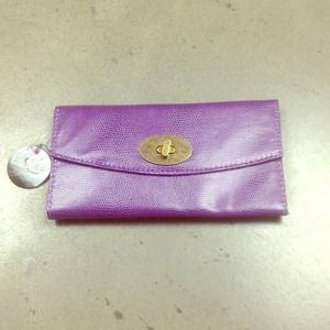 NWT Lulu purple wallet