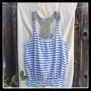 SALE Free People Rose Vine racer-back tank