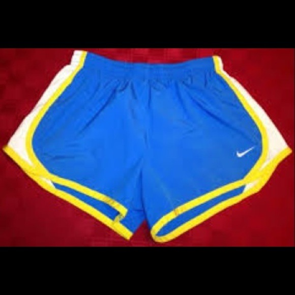 60% off Nike Pants - NWOT Blue/Yellow Nike Tempo Shorts from ...