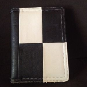 Other - Cute Black/Cream Checkered Planner 💕