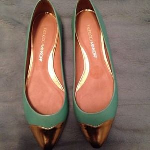 Authentic! Mint Green Rebecca Minkoff Flats - Sz 7