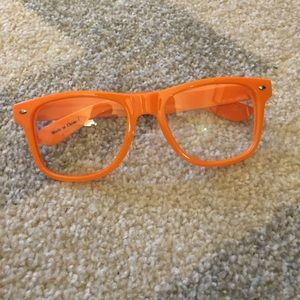Orange Plastic Glasses