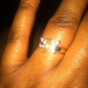 10k gold filled dragonfly ring