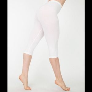 American Apparel Other - American Apparel White Cropped Legging