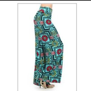 Tribal Fold Palazzo Pants Wide Leg Size 4-6 S