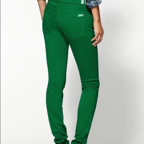 7 for all Mankind - 7 For All Mankind Green Skinny Jeans from ...