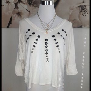 ginger Tops - Cute white dolman sleeve top