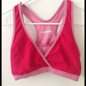 Shock Absorber Tops - Hot pink cute workout top