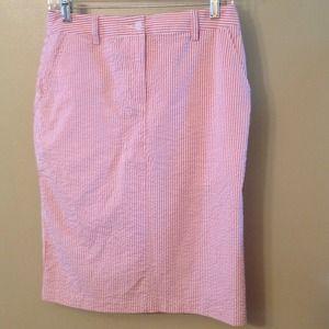 "Isaac Mizrahi ""For Target"" Seersucker Skirt Sz 4"