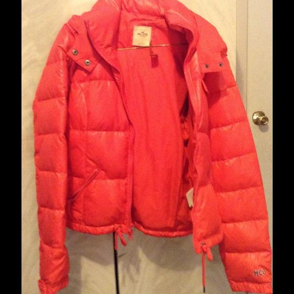 hollister bubble coat