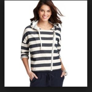 NWT LOFT navy stripe Cotton Summer Jacket!!