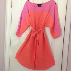 Attention Dresses & Skirts - New Attention exposed Sleeves pink Orange Dress L