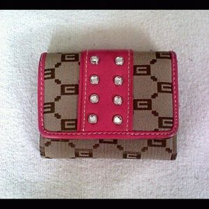 Clutches & Wallets - Pink and Light Brown Wallet