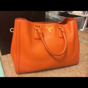 orange prada handbags