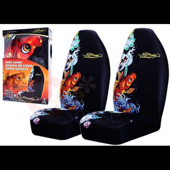 Ed Hardy Seat Covers Koi Fish Design 2 Pk Or 1   Poshmark