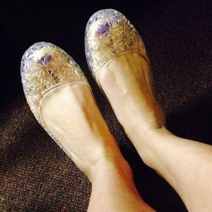 aae05b3d58da Shoes - CLEAR JELLY FLORAL FLATS 💕