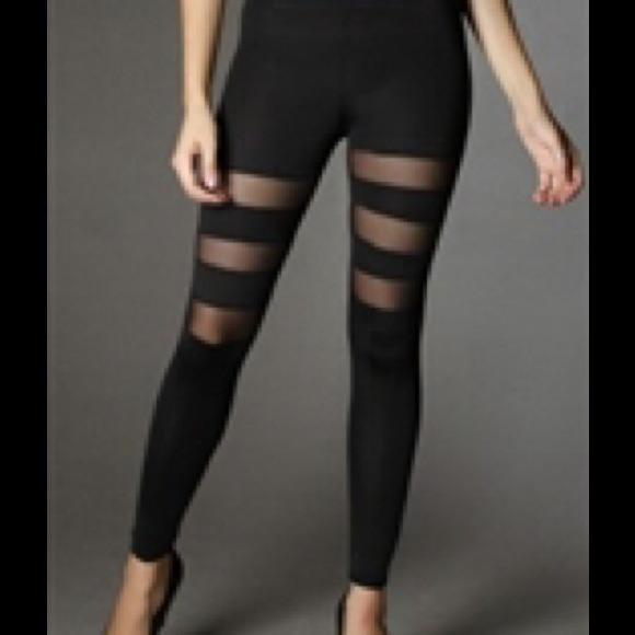 40% off Solo Stylez Pants - Mesh Panel Leggings from Solo's closet ...