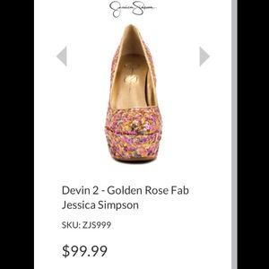 ✨REDUCED ✨Golden Rose Spark Fabric Jessica Simpson