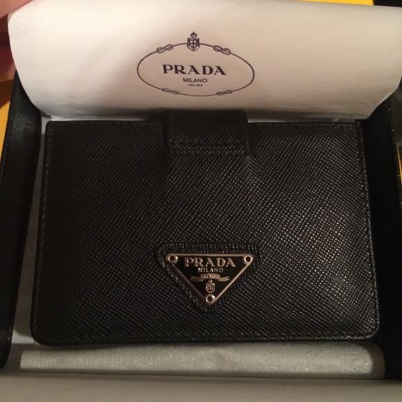 Prada bags 100 authentic black card holder poshmark 100 authentic prada black card holder colourmoves