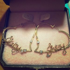Juicy Couture hoops earrings