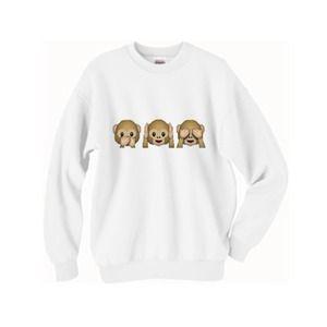 TopsByTai Sweaters - Monkey Emojis Oversized Sweater 🙈🙉🙊