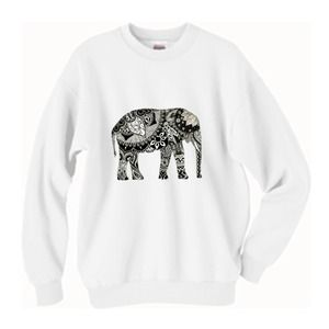 TopsByTai Sweaters - Tribal Elephant Oversized Sweater 🐘
