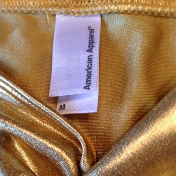 65% off American Apparel Accessories - SALE  Metallic Gold ...