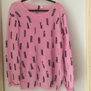 Pink alphabet sweater